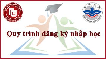 Quy trình đăng ký nhập học
