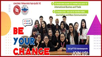 Thông báo tuyển sinh Chương trình Cử nhân Kinh doanh & Thương mại Quốc tế (Bachelor of International Business and Trade)